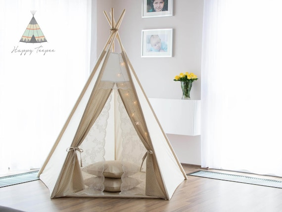 reiner tipi f r m dchen tipi zelt romantisch tipi kinder. Black Bedroom Furniture Sets. Home Design Ideas