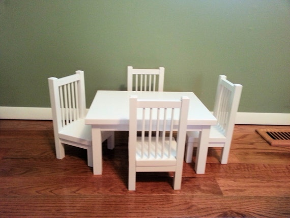 Table And Chair Set For American Girl Doll Any 18 Inch Doll