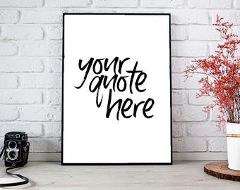 custom quote art printable