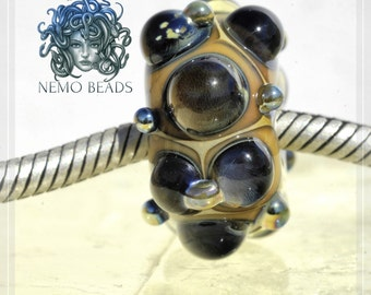 gemstone Collection Original Nemo Glass Bead , SRA, 9 x 18 mm OOAK