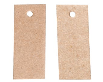 50 fixed labels, box, trailer, 48mm x 20mm, Brown, roses, 83877