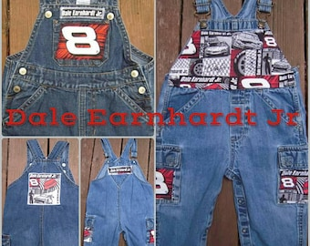 Custom Designed Embellished Dale Earnhardt Jr. Overalls