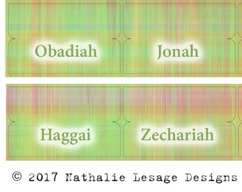 Bible Index Tabs Scripture Journaling Summer Plaid Index Tabs Scripture Dividers bible tabs Easter Gift Idea Organizing CraftyTribe 2017BT12