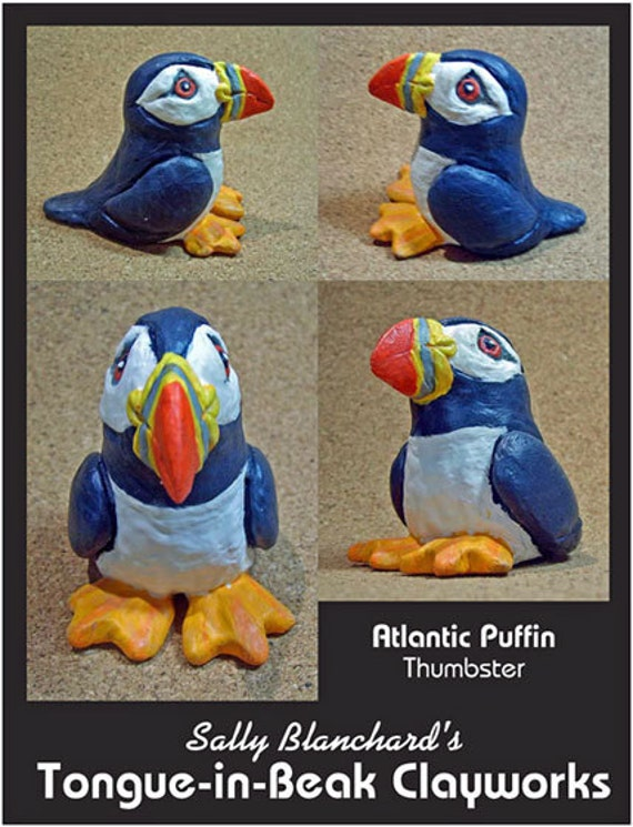 Atlantic Puffin Thumbster - Sally Blanchard's Tongue-in-Beak Clayworks