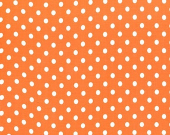 Tangerine Orange Dumb Dots, from Michael Miller Fabrics