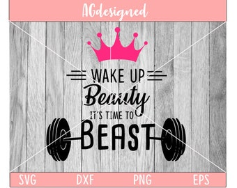 wake up beauty, its time to beast
