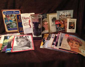 PVC Princess Diana TY Beanie Baby, Book, magazines collection