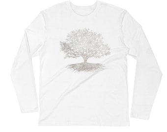 Long Sleeve Tree Logo Fitted Crew