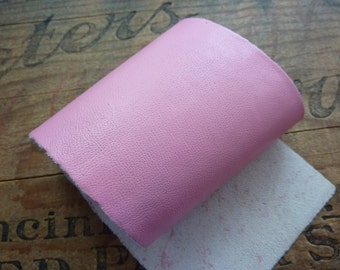 Leather Panel Leather Sheet Super Soft Kid Leather Strip 9x3inches Pink