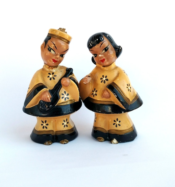 Vintage 1950's Kreiss and Company Chinese Couple