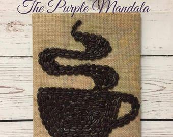 Burlap Coffee Bean Coffee Mug