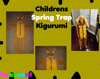 Childs size SPRING TRAP from Five Nights at Freddys Kigurumi, Onesie, cosplay, costume