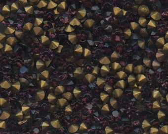 15100 *** 50 vintage rhinestones point back 3,05mm  amethyst