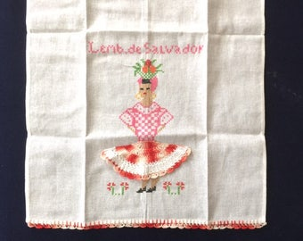 Kitchen Towel with a Multicolored Dress Design