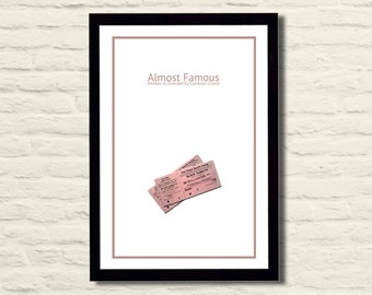 Almost Famous Movie Poster Art Print 11 X 17, Modern Poster, Home Decor