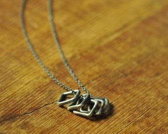 Alchemilla, Oxidized   Necklace *    Artisan Silver Necklace, Blackened Sterling Silver Necklace, Minimalist Delicate Pendant Necklace