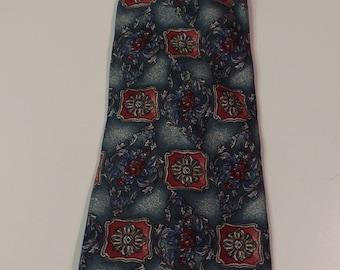 Preffered Stock Necktie in Forest Green and Burgundy Silk
