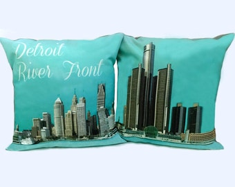 Detroit River Front Pillow Set at Special Price