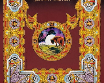 """Thin Lizzy Johnny The Fox Album Cover Art Signed and numbered Limited Edition Print 33""""x23"""". Record Album Art, Vinyl LP, Vintage Art, 1970s."""