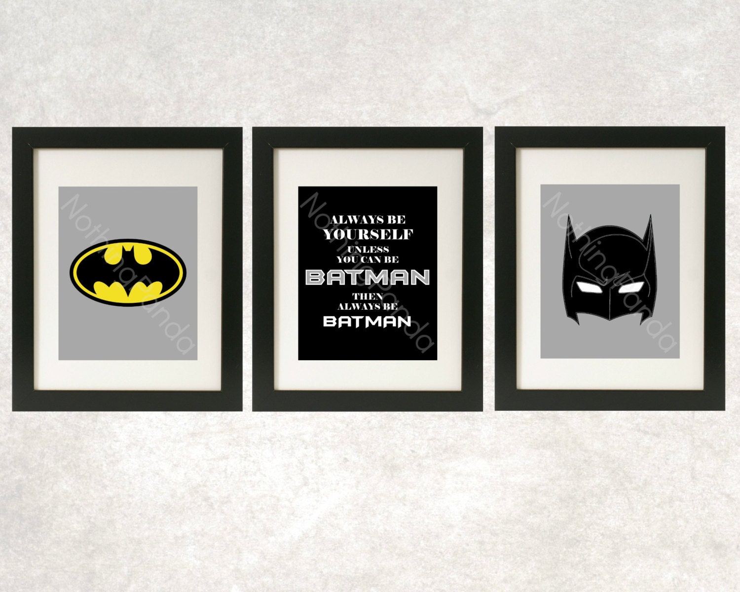 Batman Art // Superhero Wall Art // Always Be Batman Prints //