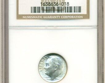 1946 D Roosevelt Dime MS66 NGC