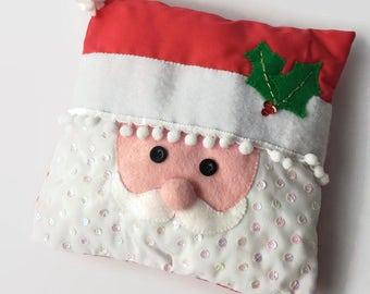 Father Christmas Small Cushion