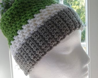 Multi-Colored Slouch Beanie