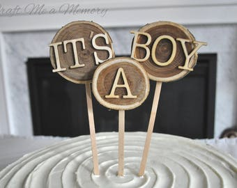 Natural Birch Wood cake topper/cupcake topper