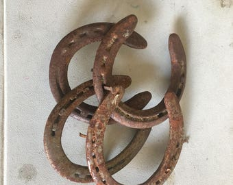 Authentic Used Horseshoes uncleaned