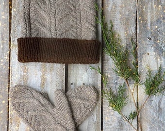 Nutmeg Hat and Mittens Knitting Kit 12 Days of Winter