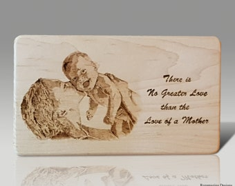 Mothers Day Wood Burned plaque Gift Wood Burning Pyrography Art Gifts for her nursery decor wooden sign baby photo moms love child picture