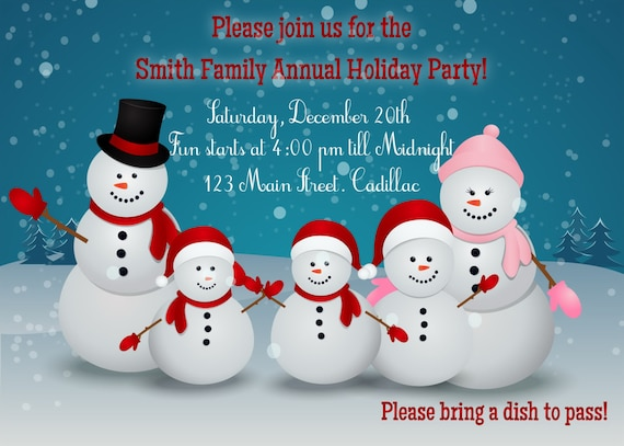 Items similar to snowman party christmas invitation printable items similar to snowman party christmas invitation printable christmas party invitation custom christmas party invitation on etsy stopboris Image collections