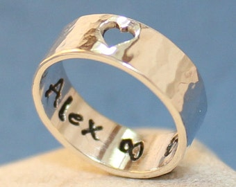 """Personalized Sterling Silver Ring.. """"Love Ring"""".."""