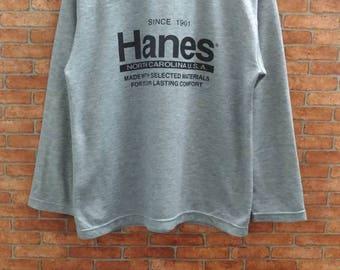 Rare!!Hanes North  Carolina USA Sweatshirt  Medium  Size
