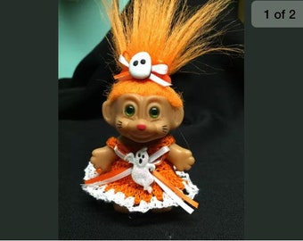 """Crocheted troll clothes- fits 2.5""""-3"""" troll doll- not included"""