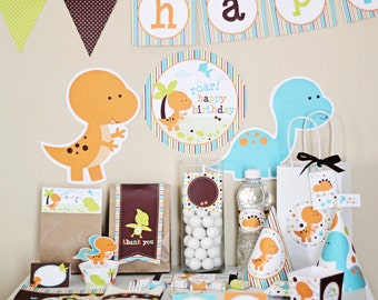 Dinosaur Birthday Party Decorations - Dinosaur Birthday Party - Dinosaur Birthday Decoration - Dinosaur Party Printables - Instant Download