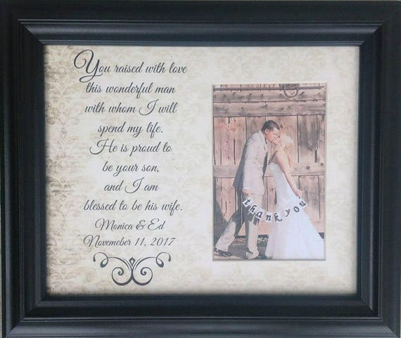 Mother of the Groom Gift, Mother of Groom Picture Frame, In Law ...