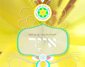 וספרתם לכם ממחרת השבת מיום הביאכם את עמר התנופה Iyar Rosh Chodesh 5778 Beth Yisrael have a good, healing and a blessed month HEBREW BLEESING