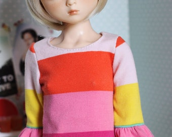 I'm all about the colours - Bell sleeve dress in big stripes for Slim MSD - by Icantdance