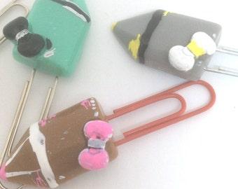kawaii pencil clip, bow clips pencil, yellow pencil clip, pencil bow feltie, pencil planner clips, school planner clips, new planner clips,