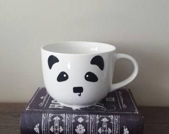 Panda face cappuccino mug