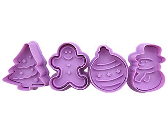 3D Cookie Stamp Cutters/Christmas Cookie Stamp/Embossing Cookie Mold/Candy Stamp Cutters/Candy Mold/Baking Supply