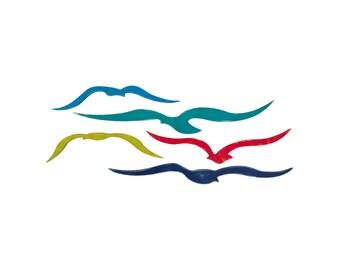 Flock Of Seagulls, Nautical Wall Decor, Coastal Decor, Beach Decor, Nautical Wall Art, Seagull Art, Coastal Wall Art, Beach Decor Coastal