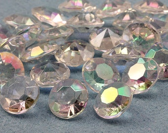 7mm 1-1/4 Carat Diamond Confetti AB Coating For Table Scatter Wedding Decorations - 500 Pieces