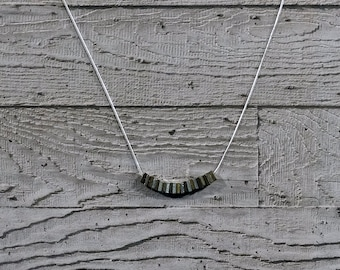 Nuts Necklace - Silver - Brass - Earthy Tones - Snake Necklace/Pendant