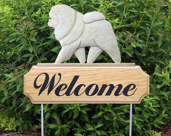 Chow Chow Welcome Garden Stake