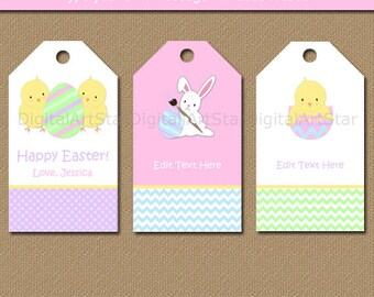Retro easter basket with chocolate bunny eggs easter gift easter tags easter gift tags easter bunny tags kids easter idea printable negle Image collections