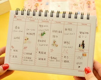 Weekly Plan, Weekly schedule