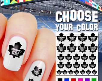 Toronto Maple Leafs Waterslide Nail Decals - Any Color!