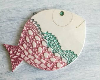 Ceramic wall-hung fish-decorative fish for hanging-fish from the wall-gifts for the house-ceramic Favors